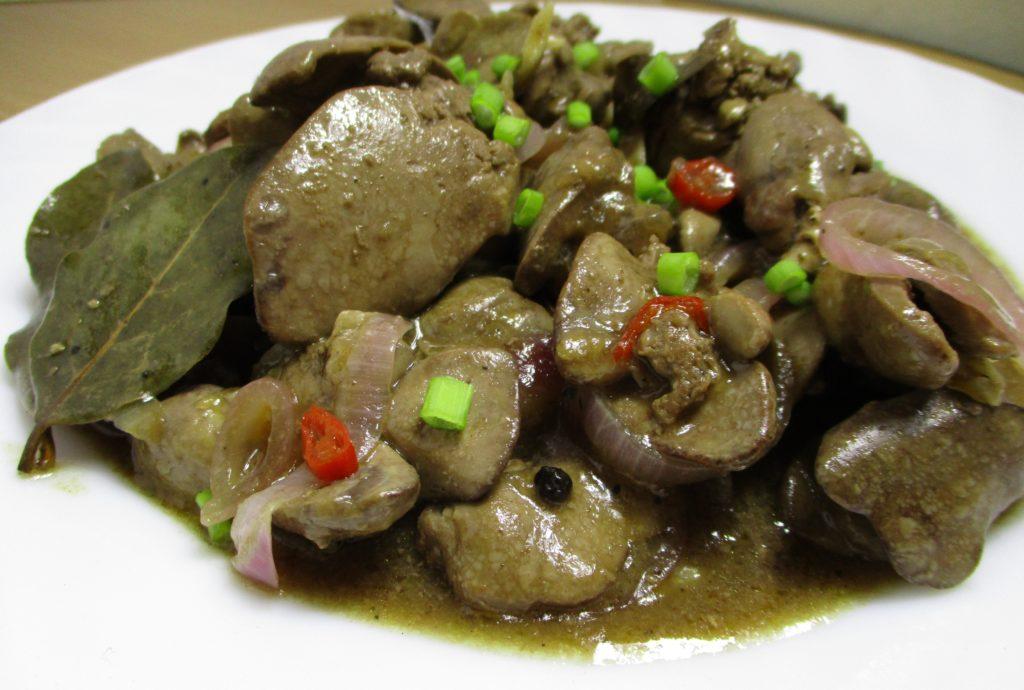 Chicken Liver Adobo Adobong Atay Ng Manok Delish Ph