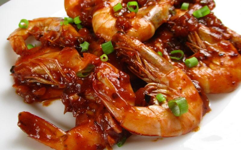 Spicy Tomato Garlic Shrimp