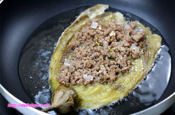 Tortang Talong with Beef Giniling