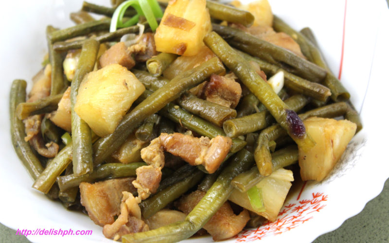 Adobong Sitaw with Pineapple