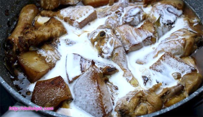 Chicken Pork Adobo in Coconut Milk