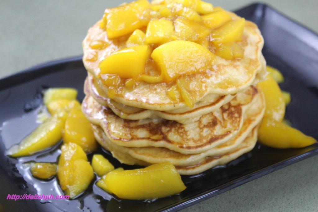 Peach Mango Pancakes