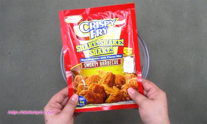 Crispy Fry Chicken Wings (Ajinomoto Crispy Fry Shake Shake Shake - Smokey Barbecue)