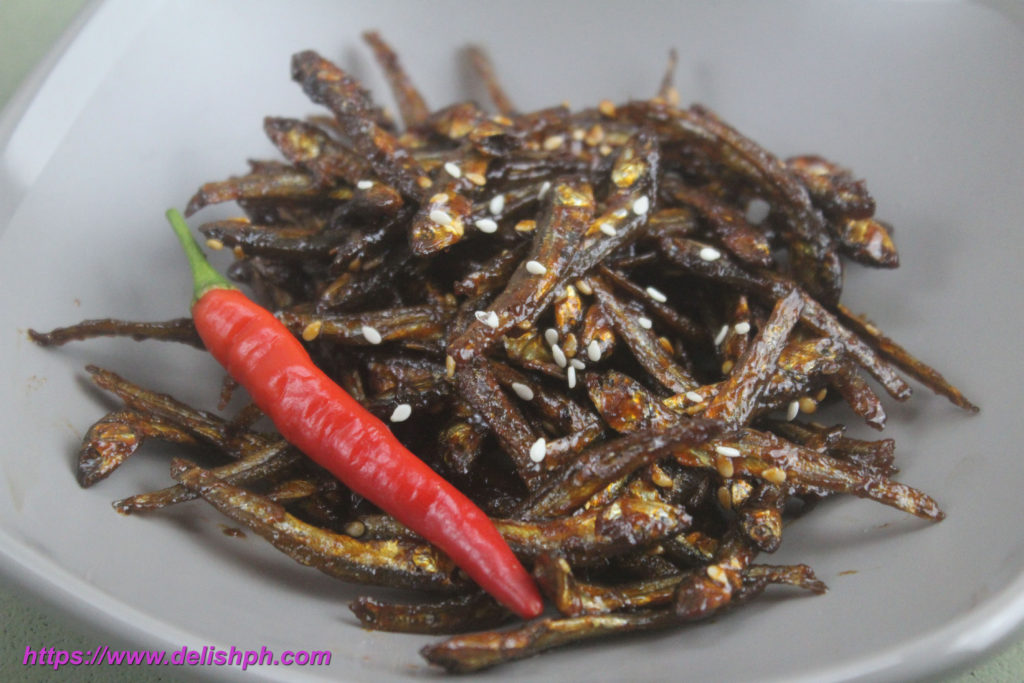 Hot and Spicy Dilis (Anchovies)