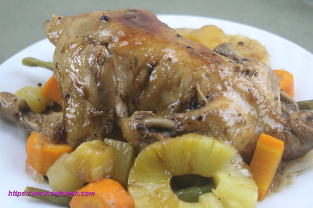 No Oven Whole Chicken with Pineapple