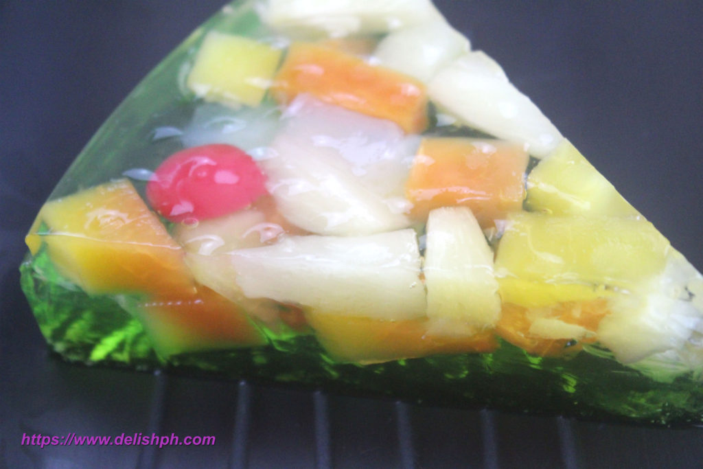 Fruit Cocktail Jelly Cake