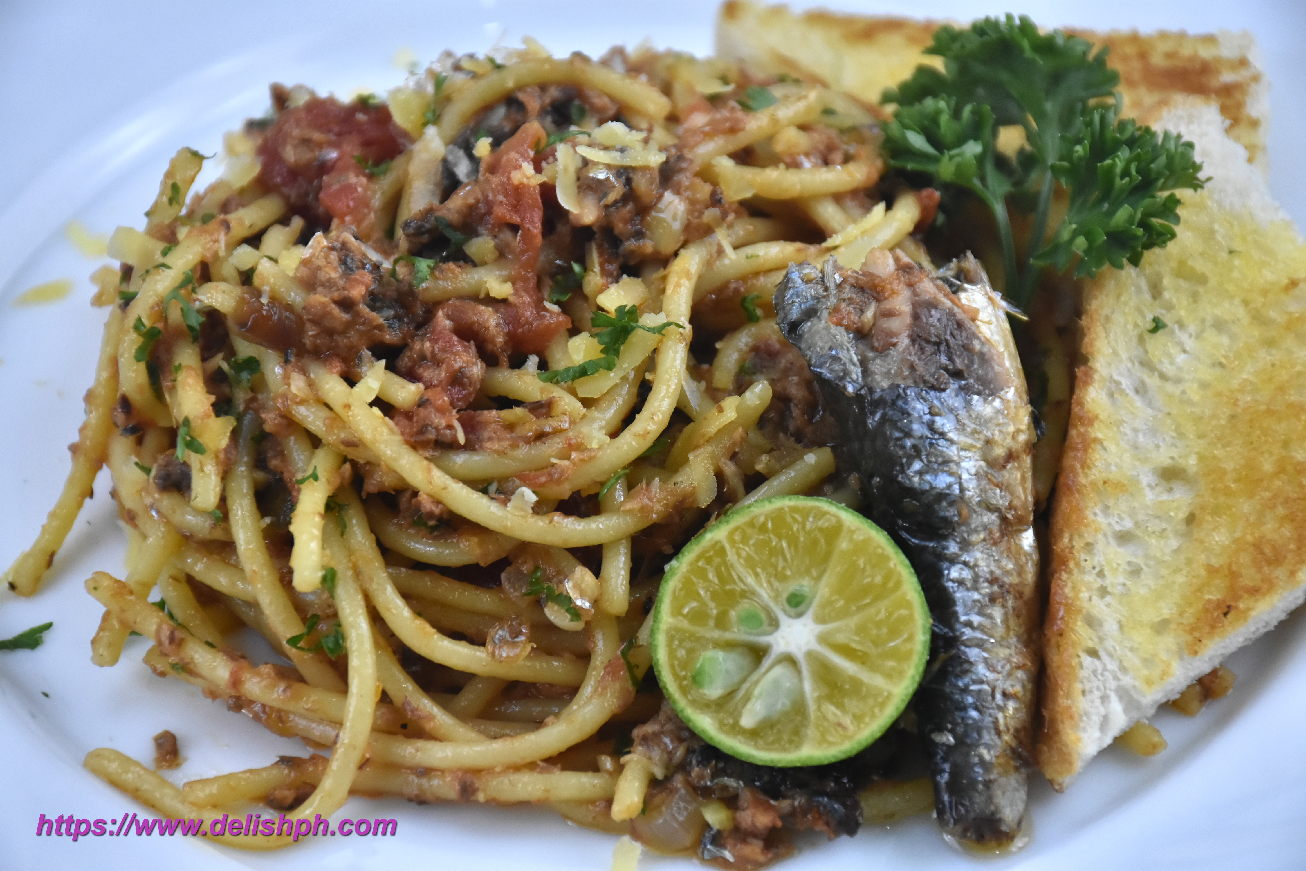 Spanish Sardines Pasta   Delish PH
