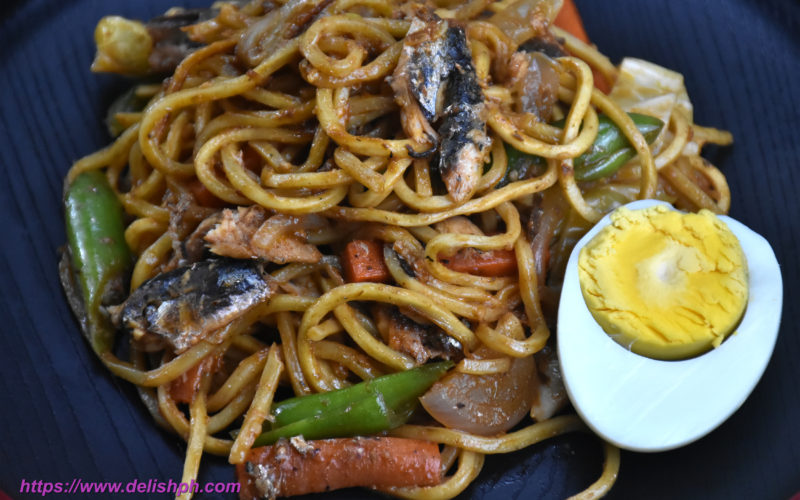 Egg Noodles with Sardines