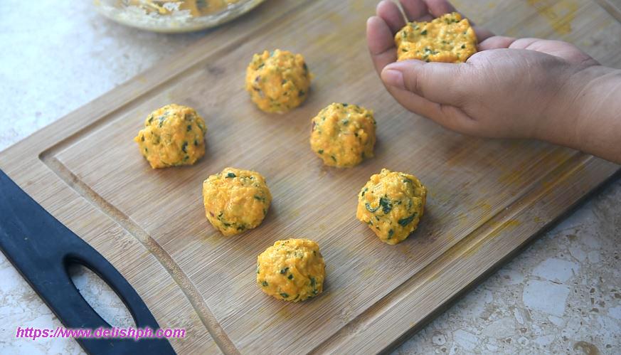 healthy kalabasa balls