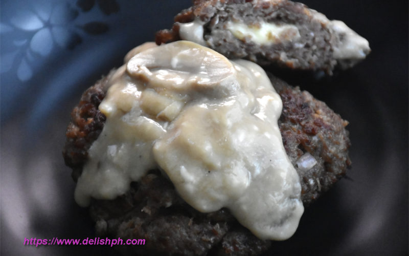 Burger Steak with Cheese