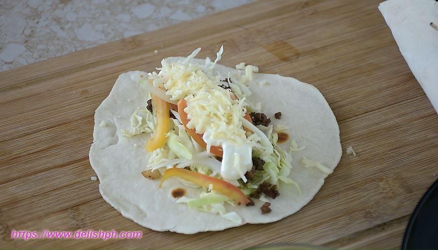 shawarma beef wrap