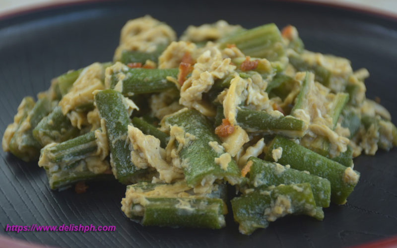 okra with egg