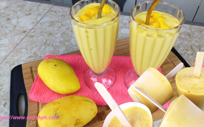 mango smoothie and popsicles